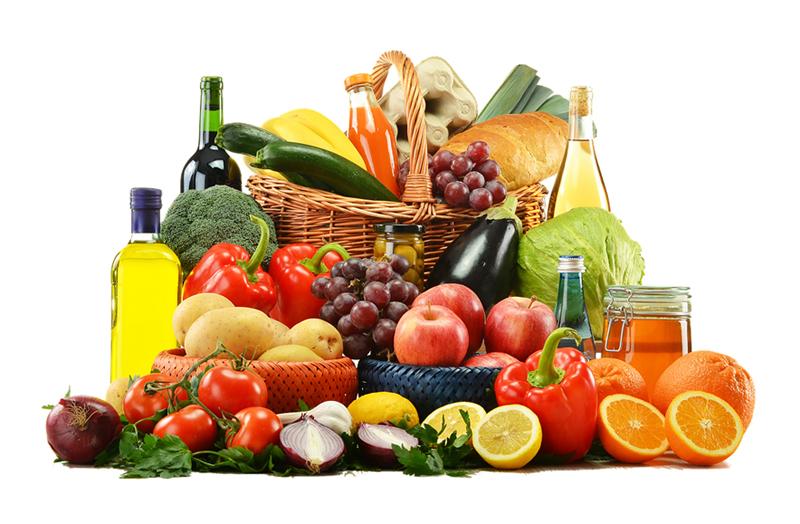 frutta verdura olio pane spremute