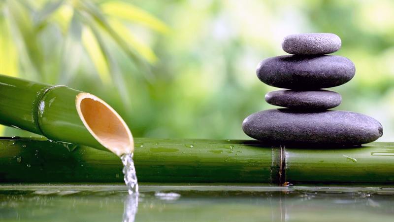 pietra bambu acqua